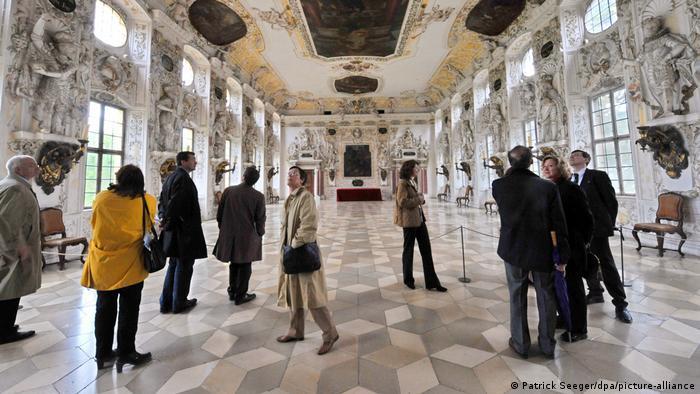 Императорский зал в замке Залем