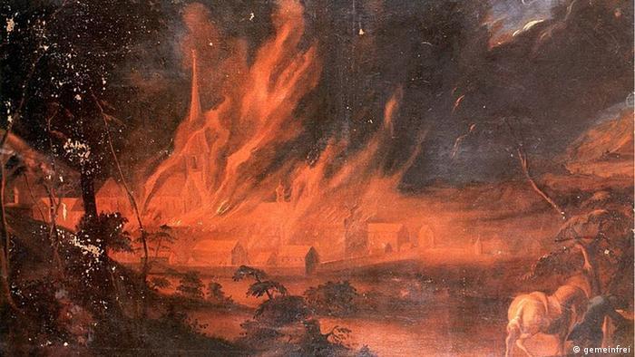 Пожар в Залемском аббатства 1697 года