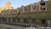 Ukraine Historisches Utkin Gebäude in Kiew illegal zerstört