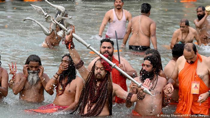 Participants celebrate Kumbh Mela in Haridwar, India