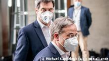 Machtkämpfer: Der CSU-Vorsitzende Markus Söder und CDU-Chef Armin Laschet