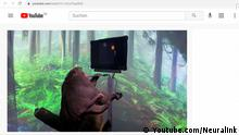 Screenshot Youtube Affe mit Mikrochip