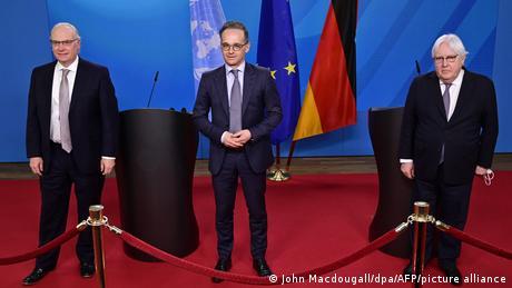 وزير الخارجية الألماني ومبعوثا الأمم المتحدة والولايات المتحدة إلى اليمن
