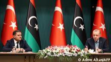 Türkei Recep Tayyip Erdogan und Abdul Hamid Dbeibah