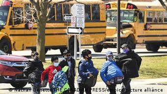 Школьники в канадском городе Миссиссога