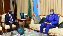 DRC-Präsident Félix Tshisekedi und Jean-Michel Sama Lukunde