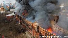 Weltspiegel 13.04.2021 | Russland Sankt Peterburg |Brand in Navskaya-Fabrik