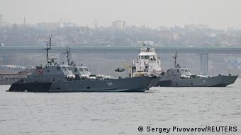 Корабли Каспийской флотилии у берегов Ростова-на-Дону