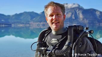 Underwater archaeologist Florian Huber
