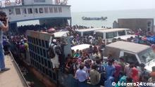 13.04.21 *** A rush of homebound passengers has left more than 1,500 vehicles stranded at the Shimulia-Banglabazar ferry terminal, ahead of a new lockdown scheduled to start in Bangladesh on Apr 14.