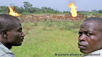 Gas flares in the Nile Delta