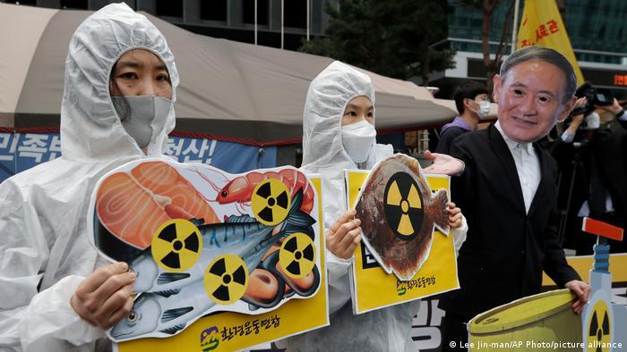Ekološki aktivisti su u Južnoj Koreji prosvjedovali protiv odluke japanske vlade (13.4.21.)