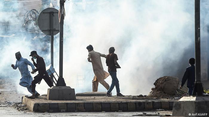 Pakistan Protest nach Verhaftung von Saad Rizvi