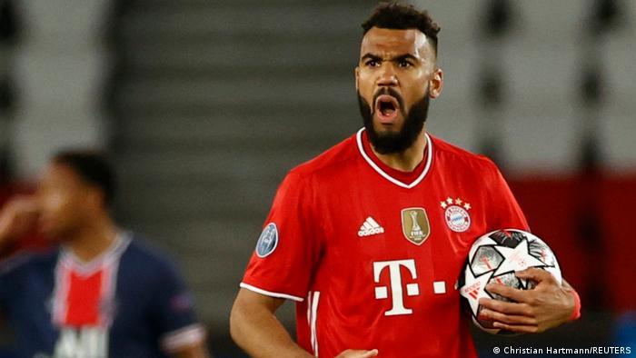 L'attaquant du Bayern Eric Choupo-Moting en Ligue des champions contre le PSG