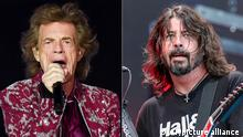 Musiker Mick Jagger und Dave Grohl