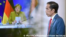 Indonesien I Videokonferenz zwischen Joko Widodo und Angela Merkel