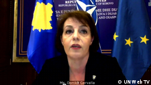 Screenshot UN Web TV I Donika Gervalla