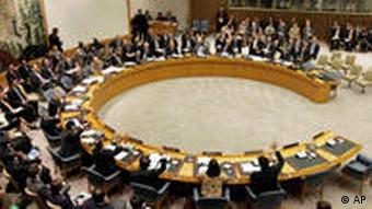 The members of the U.N. Security Council vote on sanctions against Iran during a session Wednesday, June 9, 2010. The sanctions would ban Iran from pursuing any activity related to ballistic missiles capable of delivering nuclear weapons, bar Iranian investment in activities such as uranium mining and prohibit Iran from buying several categories of heavy weapons including attack helicopters and missiles. (AP Photo/Richard Drew)