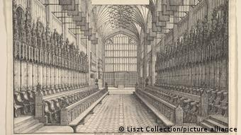 St. George's Chapel, an etching from 1660.