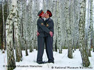 Blue Noses, Kissing policemen (An epoch of clemency), 2005; courtesy of the artist and M&J Guelman Gallery; part of the Ars Homoerotica exhibition at the National Museum in Warsaw