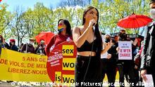 Frankreich Protest für Rechte von Prostituierten