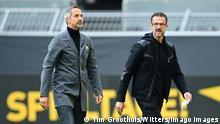 Fußball Bundesliga | Eintracht Frankfurt | Trainer Adolf Adi Huetter und Vorstand Fredi Bobic