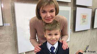 Ксения Луцкина с сыном