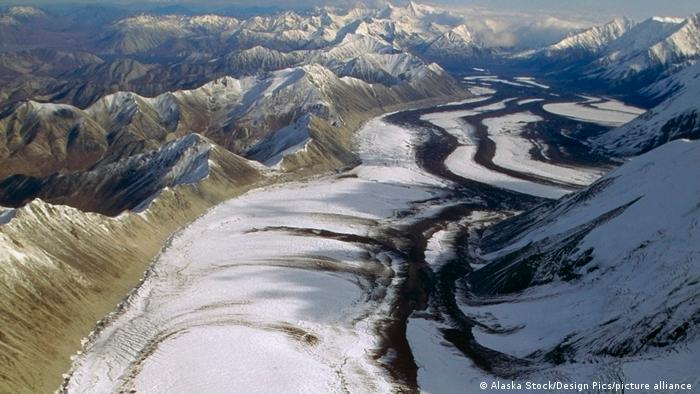 El glaciar Muldrow, en la cara norte del monte Denali en Alaska.