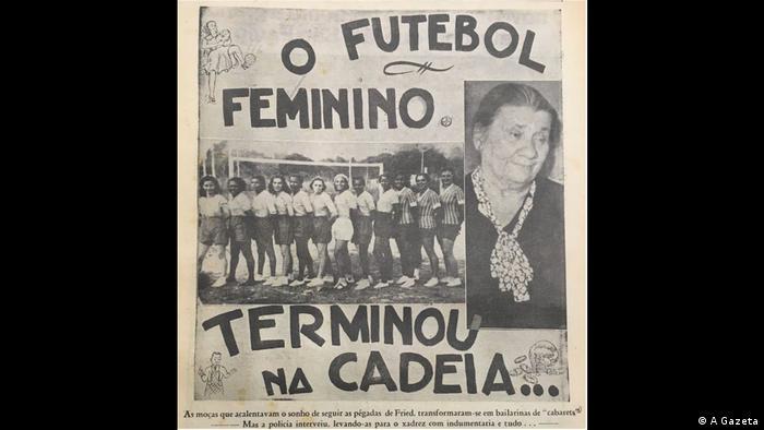 Manchete alarmista de A Gazeta sobre a prisão de Carlota Alves de Rezende, a Dona Carlota