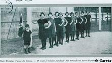 Torcedoras fundadoras do time feminino do Club de Regatas Vasco da Gama, em 1923
