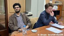Russland Redakteure der studentischen Zeitschrift DOXA in Moskau
