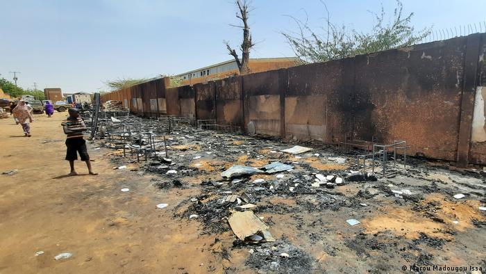 L'incendie s'est déclaré dans le quartier Pays-Bas de Niamey
