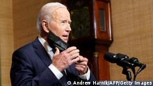 USA | Washington | Rede Präsident Joe Biden
