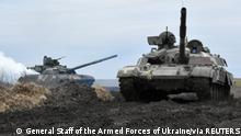 Weltspiegel 15.04.2021 | Ukraine Militärübung Panzer