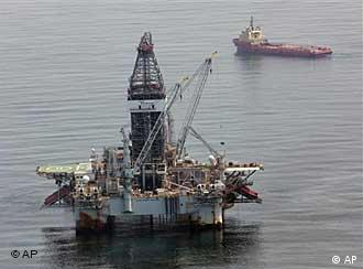 A deepwater drilling rig operates near the site of the Deepwater Horizon disaster in the Gulf of Mexico