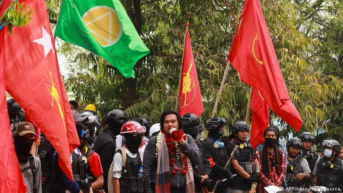 Anti-coup leader Wai Moe Naing