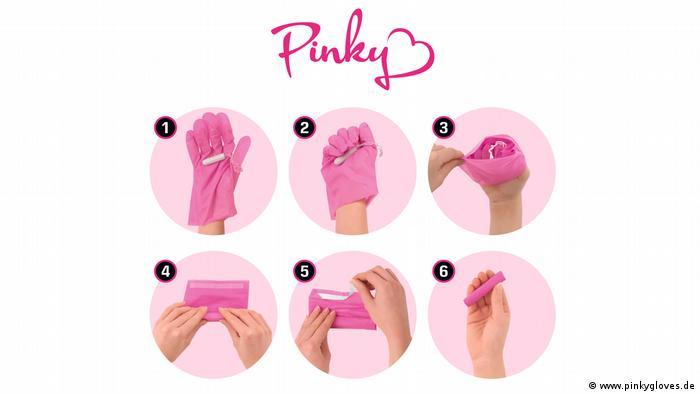 Рекламные снимки для перчаток Pinky Gloves