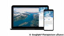 Google Earth App   Climate Change   Columbia Glacier in Alaska