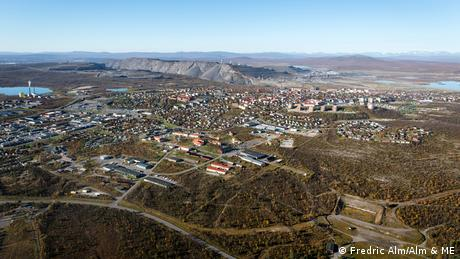Aerial view of Kiruna, Sweden