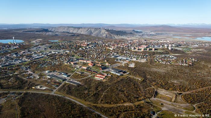 LKAB: Luftansicht von Kiruna