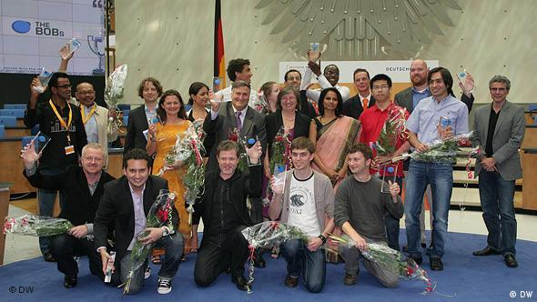 GMF Global Media Forum 2010 BOBs Gewinner Gruppenbild Flash-Galerie