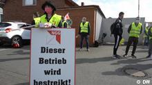 DW Sendung Global 3000 | Deutschland Streik Schild