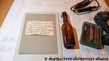 Бутылка из-под пива и записка, спрятанная в ней