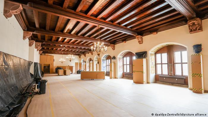Парадный зал Старой ратуши в Лейпциге