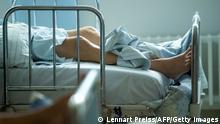 Leitos de hospital em Freising, no sul da Alemanha