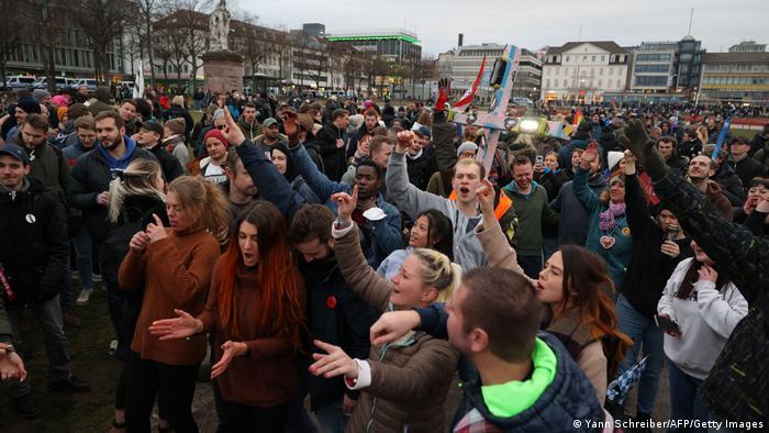 Протест против карантинных мер в Касселе