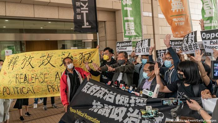 Hongkong Justiz-Verfahren gegen Opposition Proteste
