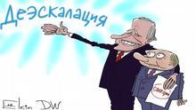 Karikatur Elkin | USA Sanktionen gegen Russland