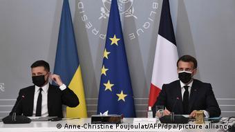 Wideokonferencja prezydentów Ukrainy i Francji z kanclerz Niemiec