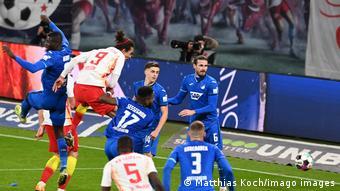 Yussuf Poulsen face à Hoffenheim